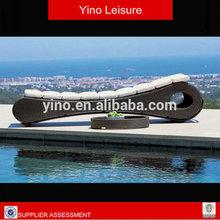 Outdoor Sofa Bed Rattan Pool Sofa Bed Beach Sun Lounger VL1084