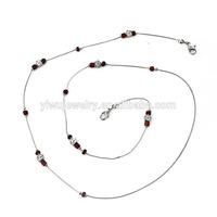 GL4019 beautiful cheap silver handmade beads crystal fashion decorative sunglass rope