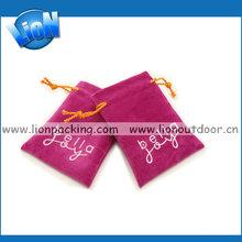 high-end satin gift bag with drawstring