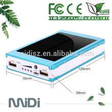 Rechargeable portable Solar mobile recharger, Ultra slim solar power bank, rechargeable power bank