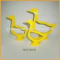 nuevo diseño de cerámica de color amarillo pato pato ornamento