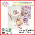 2014 novo produto panela elétrica de arroz de madeira mini móveisbrinquedos, popular brinquedosdecozinha, venda quente criança brinquedosdecozinha
