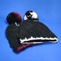 crochet de malha de inverno chapéu gorro atacado