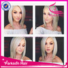 Top fashion Bob style platinum blonde hair wig for white women