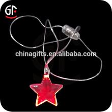 Promotional Logo Led Flashing Star Led Necklace