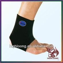 Black Sport Basketball Foot Elastic Support Wrap Neoprene Adjustable Ankle Brace