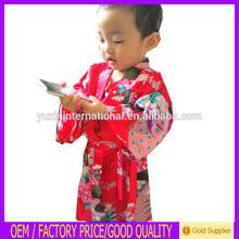 2014 new design chinês fabricante crianças por atacado vestido kimono robe