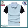 New design zipper camisa gola polo, Preto liso designers polo camisa especificação