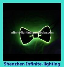 EL Wire Neon Green Bow Tie For Party