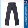 a fábrica de vestuário denim ourela tecido homens calças jeans preço