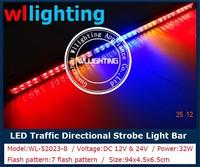 "snow plow, security patrol vehicles Dash Interior Light Bar 36"" traffic advisor emergency strobe lights"