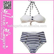 Sexy Cute Womens white and black brazilian style bikini bottom