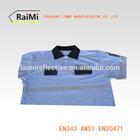 high visibility reflective security polo shirt ANSI107