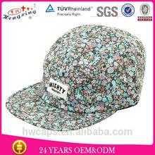 2015 fashion custom design your own wholesale 5 panel hats