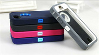 case for iphone 5 pc + tpu hard case multi-colors 3 in 1
