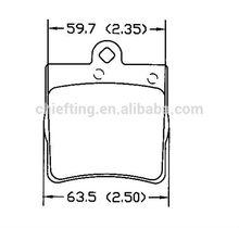 D779 for mercedes rear mercedes brake pad