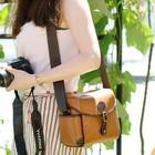High quality korea style leather shoulder camera bag