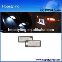E-mark approved 12V car lighting 18 SMD LED License Plate Lamp for AUDI A4 S4 A3 S3 A8 S8 A6 S6 C6 Q7