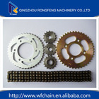 Reasonable price 40Mn for 428 428h motorcycle chain and 45# steel 42T/15T sprocket kit with high quality