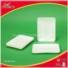 9.85'' Rectangle plastic serving tray for party
