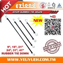 [EZ LOAD] EPDM Tarp Tensioner Straps & Rubber Tie Down with Hooks