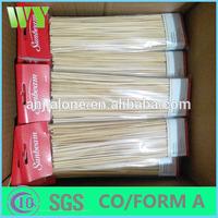 round BBQ bamboo sticks