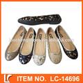 venta caliente de encaje hasta la señora de la línea de ballet zapatos de baile zapatos planos