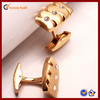 jewelry rose gold plated stainless steel men's cuff link