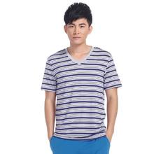 stripe man v -neck t shirt high quality t shirt distro