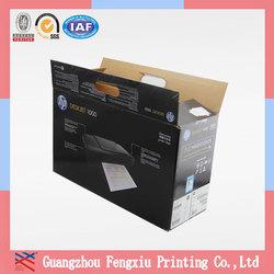 High Quality Fashion Custom Printed Black Corrugated Shipping Boxes
