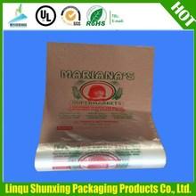 custom printed small plastic bag/t-shirt packaging bag on roll