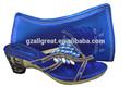 Arrivo nuovo design! Scarpeitaliane e borse per abbinare le donne colore blu royal/scarpe e borse di corrispondenza con colorati di perle e pietre
