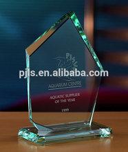 New designs jade glass trophy blank glass ornaments