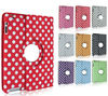 Polka Dots Rotating Leather Case Cover for ipad 2 3 4 5 mini 2 Retina Display Wholesale from Lede Factory