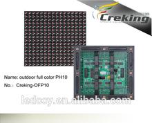 Hot selling p2.5/p3/p4/p5/p6/p7.62/p10 led matrix/pixel pitch 10mm led matrix