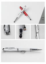 décent 5 en 1 metal stylus stylo à bille avec la lumière led pointeur laser stylo détecteur de fausse monnaie