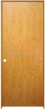 Prefinished Wheat Oak Flush Prehung Interior Door - Right Inswing