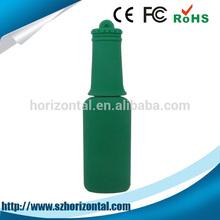 64GB PVC bottle shape custom logo flat usb 2.0 flash drive, usb flash drive skin made in China