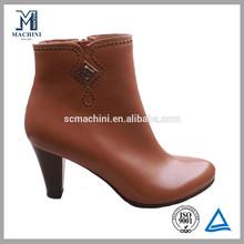 Cute ankle shoe fashion high heel women sheepskin boot