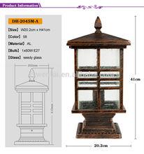 waterproof japanese style die casting garden lamp post