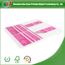 Paper Roll Print Labels Custom adhesive label