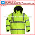 Amarillo chaqueta reflectante de seguridad, parka de seguridad, 3m chaqueta de invierno