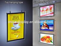 Led Window Display Board, Hanging Advertising Light Box, LED Advertising Window Display