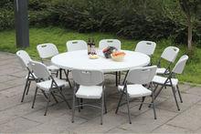 Extérieurs pour la maison banquet parti événements de mariage restaurant location vacances hôtel en plastique pliage table ronde