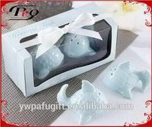 wedding gifts light blue ceramic fish salt and pepper shaker
