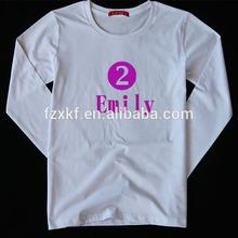custom T shirts for couple long sleeve collar tee 100% cotton 10X