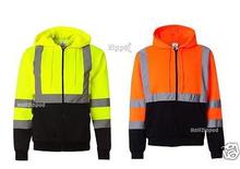 ML Kishigo - Hi-Visibility Reflective Hooded Full-Zip Sweatshirt - JS102-103