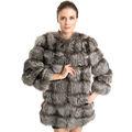 chino qd70723 real piel de zorro rojo sexy lady inteligente capa de ropa casual para la mujer