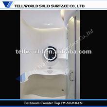 Modern Design Solid Surface Vanity Top Hotel Shower room