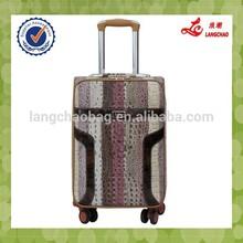 crocodile skin universal wheels push button luggage